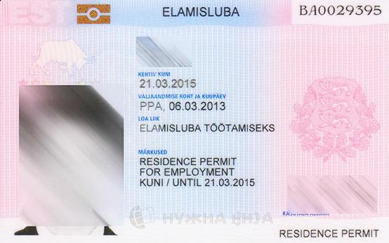 Эстонский вид на жительство