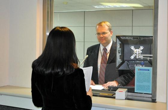 Собеседование на визу США.