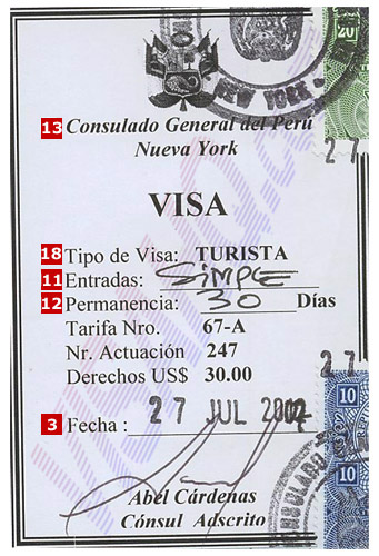 Виза в Перу для россиян в 2017 году: нужна ли, въезд, продление