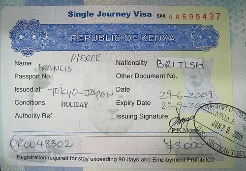 Виза в Кению для россиян 2017: нужна ли, электронная, получение