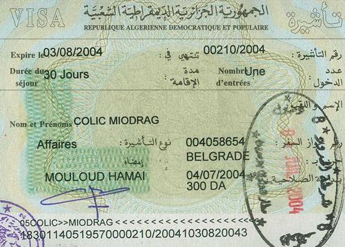 Виза в Алжир для россиян 2017: нужна ли, получение